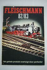 Fleischmann 82/83 Spur HO + N Dutch catalog katalog catalogus