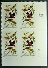 3650 MNH 2002 37c John James Audubon PB Birds Nature wild songbirds accurate