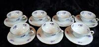 MINT Vintage Royal Heidelberg Winterling Demitasse Cup & Saucer Violets SET 7