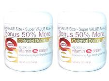 2 PACK Colonial Dames 42,000 I.U. Vitamin E Cream 6oz 077837010397YN