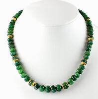 Edle Smaragd Kette Edelsteinkette einzelstück Rarität Antik melonschliff Collier