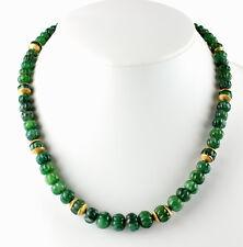 Classy Emerald Necklace Precious Stone Single Piece Rarity Antique Melon Cut
