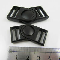 15mm - 20mm SWIVEL CENTER RELEASE WEBBING BUCKLE SLIDERS *2 SIZES* UK SELLER