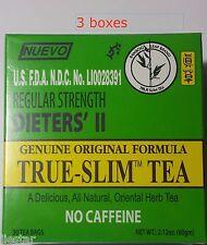 3 BOXES BAMBOO Leaf brand  Regular Strength Dieters' II True-Slim Tea