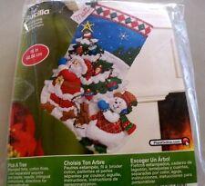 "New 2013 Bucilla Christmas Pick A Tree 16"" Felt Stocking Kit #86440"