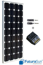 Panneau solaire 100W 12V monocristallin marque italienne Futurasun + régulateur