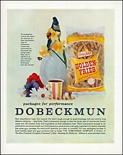 1961 Dobeckmun packaging Dow Chemical Ore-Ida fries vintage photo print ad adl79