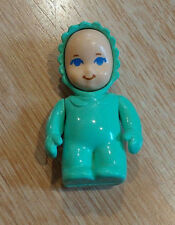 Vintage Little Tikes Dollhouse Baby Figure Doll Green
