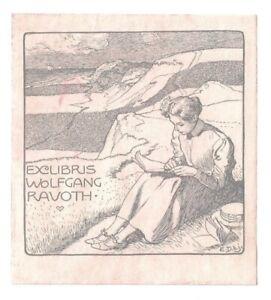 EMIL DOEPLER d. J.: Exlibris für Wolfgang Ravoth