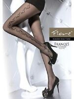 Fiore - Collant en nylon sexy fantaisie motif sur le coté référence Frances