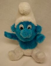 "VINTAGE Smurfs 1980 SMURF 8"" Plush Stuffed Animal"