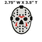 EMBROIDERED HOCKEY MASK PATCH IRON-ON FRIDAY THE 13th JASON VOORHEES GOALIE