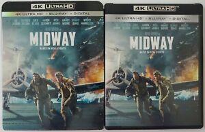 MIDWAY 4K ULTRA HD BLU RAY 2 DISC SET + SLIPCOVER SLEEVE FREE WORLDWIDE SHIPPING