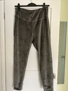 Ladies Next Make Time To Dream Lounge Grey Sparkle Trousers Size 16