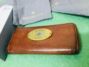 MULBERRY 12 Card Continental Purse Wallet  RRP - £325 - Tan leather