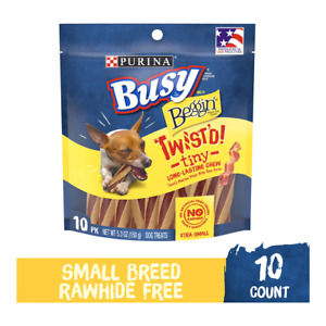 Purina Busy Bone Beggin' Twist'd! Tiny Dog Treats Made With Bacon,1-10 Bones