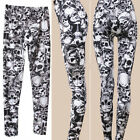 New Lady Sexy Leggings Skinny Slim Skull Print Stretchy Soft Pants