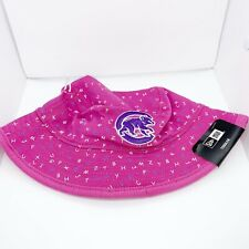 New era kids toddler bucket hat 100%authentic Pink one size Chicago Cubs Logo