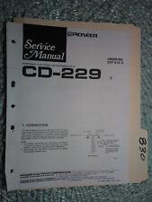 Pioneer Cd-229 service manual original repair book car stereo connnector 7 pages