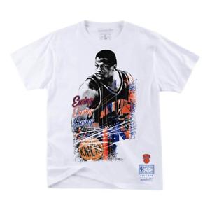 Mitchell & Ness White NBA New York Knicks Patrick Ewing Player Burst T-Shirt