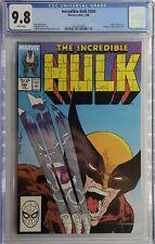 Incredible Hulk #340 - CGC 9.8 White Pages - Hulk vs Wolverine McFarlane