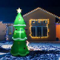 10' Inflatable Christmas Tree LED Lighted Giant Waterproof Tree Home & Outdoor