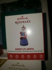 2017 Hallmark Sweet Li'l Santa Miniature Keepsake Ornament Repaint