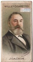 Joseph Joachim Violinist Composer Conductor  Music 100+ Y/O Trade Ad Card