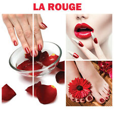 4 RED Wall Decoration La Rouge Salon Spa Themed Murals on Canvas Nail Art