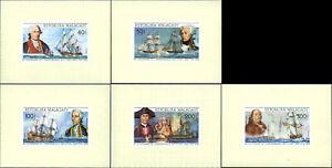 Malagasy Scott #525v - #526v, #C137v - #C139v IMPERFs Set of 5 Mint Never Hinged