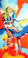 "Spontanrealismus ""Liebe"" Moderne Malerei Abstrakte Kunst Wandbild Unikat Nr.1353"