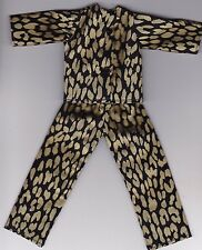Doll Clothes-Black and Gold Print Pajamas that fit Barbie-Homemade BP2