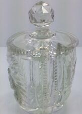 American Brilliant ABP Cut Glass Mustard Condiment Jar