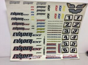 DuraTrax DTXC7329 New Decal Set Evader EXT New