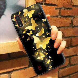 MOBILE PHONE CASE SAMSUNG GALAXY A22 A32 A42 A52 S10 S20 (5G) BLACK BUTTERFLIES