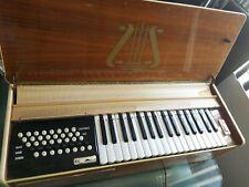 "Vintage ""Rare"" Retro Wood Bentempi Organ Piano Keyboard Electric Air Organ"