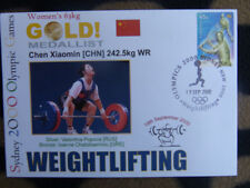 SOUVENIR SYDNEY OLYMPICS GOLD MEDAL COVER - CHEN XIAOMIN WOMENS WEIGHTLIFTING