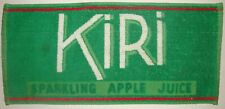 Vintage Kiri Sparkling Apple Juice Beer Bar Pub Towel From Great Britian 1992