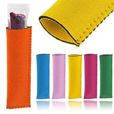Neoprene Popsicle Holder Icy Pole Ice Lolly Freezer Pop Sleeve Kid Protector NT