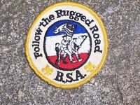 BSA Boy Scout Follow the Rugged Road Patch Boy Scout Patch Vintage