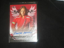 CARINA DAMM MMA UFC LEAF CERTIFIED AUTHENTIC HAND SIGNED AUTOGRAPHED CARD