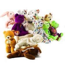 Ty Beanie Babies Lot of 14 Stuffed Toy 1990's Retired PVC Errors Hope Huggy 2K