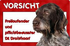 Deutsch DRAHTHAAR - A4 Alu Warnschild Hundeschild SCHILD Türschild - DDR 04 T6