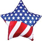 """Patriotic Balloons American Flag Star Balloon 18""""  Veterans"""
