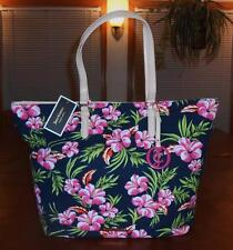 JUICY COUTURE MULTI-COLOR FLORAL PRINTED CANVAS N/S TOTE W/JC FOB -YHRUS107-BNWT