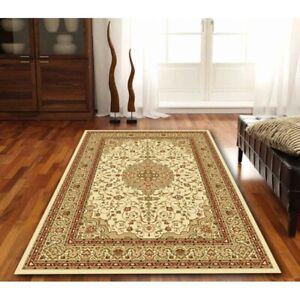 Traditional floor rug cream medallion 240 x 330 cm 1 Million thread count NEW