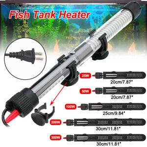 Aquarium Submersible Heater Fish Tank Water Auto Thermostat 25/50/100/200/300W