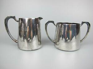Superb vintage silver plated Mappin & Webb Set: Milk Jug / Creamer & Sugar Bowl.