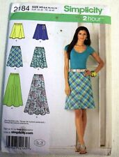 Simplicity MISSES BIAS IN TWO LENGTHS AND GORED SKIRTS 2184 SIZE 6,8,10,12,14
