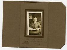 Vintage Photo in Folder - Pennsylvania - MAUS Family Older Boy at Desk W/Book